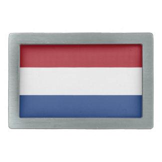 Netherland Holland Patriotic Pattern Rectangular Belt Buckle