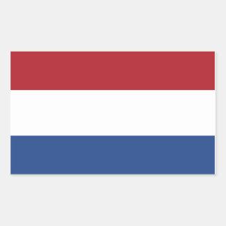 Netherland Holland Patriotic Pattern Rectangular Sticker