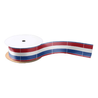 Netherland Holland Patriotic Pattern Satin Ribbon