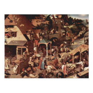 Netherland Proverbs - 1559 Postcard