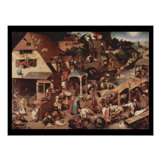 Netherland Proverbs - 1559 Poster