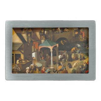 Netherlandish Proverbs by Pieter Bruegel the Elder Belt Buckles