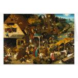 Netherlandish Proverbs by Pieter Bruegel the Elder Cards