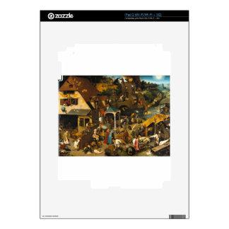 Netherlandish Proverbs by Pieter Bruegel the Elder Decal For iPad 2