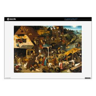 Netherlandish Proverbs by Pieter Bruegel the Elder Laptop Decals