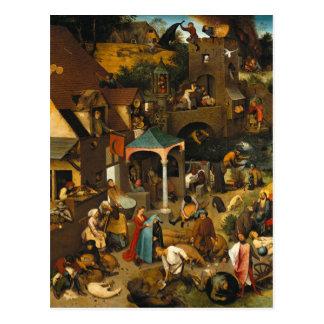 Netherlandish Proverbs by Pieter Bruegel the Elder Postcard