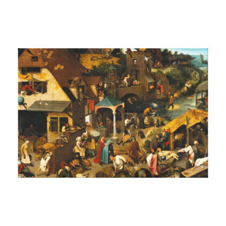 Netherlandish Proverbs Pieter Bruegel Painting Gallery Wrapped Canvas