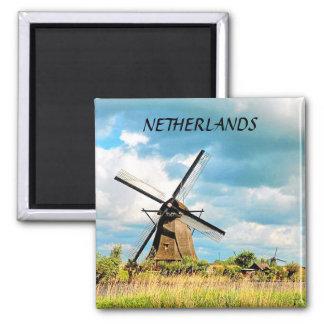 NETHERLANDS 2 INCH SQUARE MAGNET