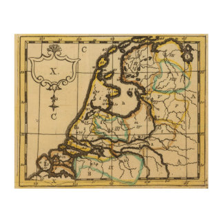 Netherlands 4 wood canvas