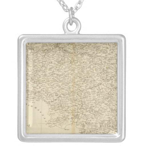 Netherlands 5 square pendant necklace