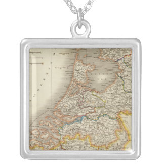 Netherlands 7 square pendant necklace