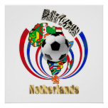 Netherlands Africa Oranje Soccer Ball Gifts Poster
