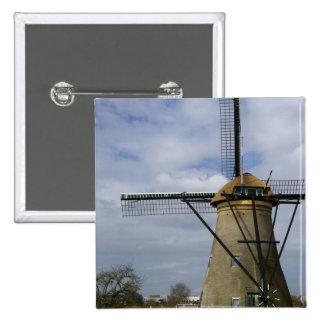 Netherlands (aka Holland), Kinderdijk. 19 2 Inch Square Button