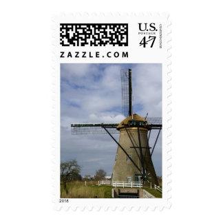 Netherlands (aka Holland), Kinderdijk. 19 Postage Stamp