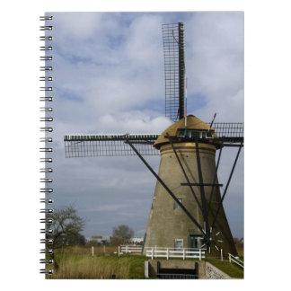 Netherlands (aka Holland), Kinderdijk. 19 Spiral Notebook