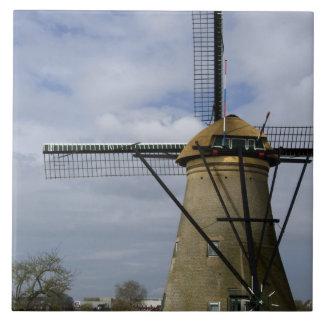 Netherlands (aka Holland), Kinderdijk. 19 Ceramic Tile