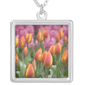 Netherlands (aka Holland), Lisse. Keukenhof Silver Plated Necklace