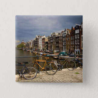 Netherlands, Amsterdam. View of canal from Button