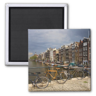 Netherlands, Amsterdam. View of canal from Magnet