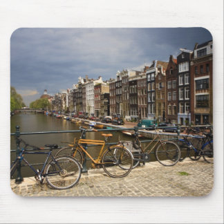 Netherlands, Amsterdam. View of canal from Mouse Pad