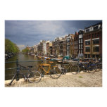 Netherlands, Amsterdam. View of canal from Photo Print