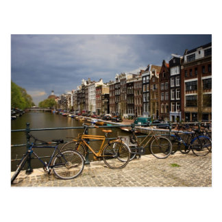 Netherlands, Amsterdam. View of canal from Postcard