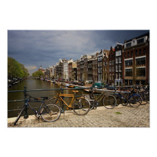 Netherlands, Amsterdam. View of canal from Print
