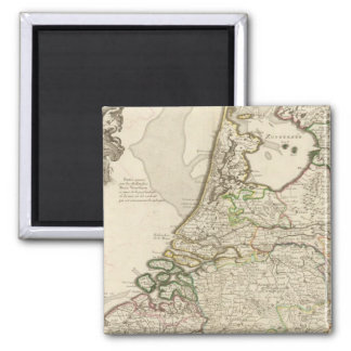 Netherlands and Belgium 2 2 Inch Square Magnet