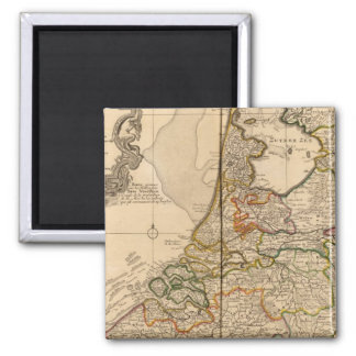 Netherlands and Belgium 2 Inch Square Magnet