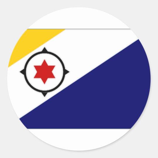 Netherlands Antilles Bonaire Flag Classic Round Sticker
