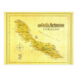 Netherlands Antilles, Curacao Map (Paper) Postcards
