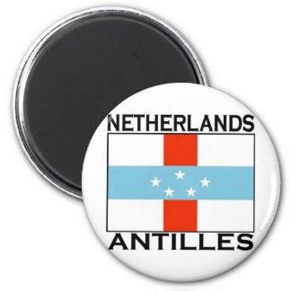 Netherlands Antilles Flag 2 Inch Round Magnet