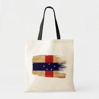 Netherlands Antilles Flag Canvas Bags