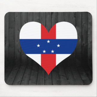 Netherlands+Antilles flag colored Mouse Pad