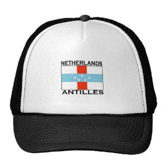 Netherlands Antilles Flag Mesh Hats