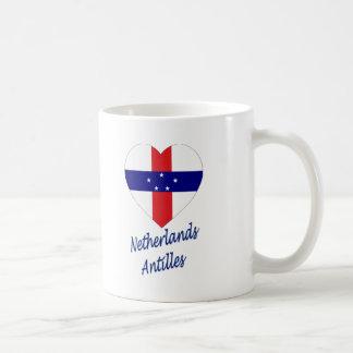 Netherlands Antilles Flag Heart Coffee Mug