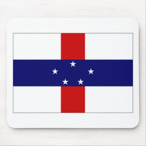 Netherlands Antilles Flag Mouse Pad