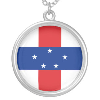 Netherlands Antilles Flag Necklace