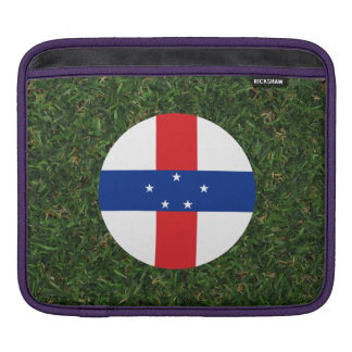 Netherlands Antilles Flag on Grass iPad Sleeves
