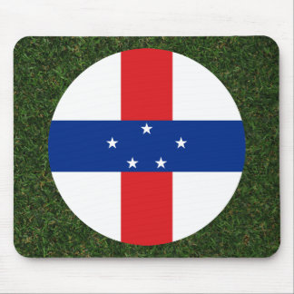 Netherlands Antilles Flag on Grass Mouse Pad