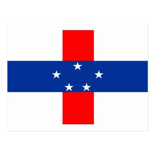 Netherlands Antilles flag Postcard