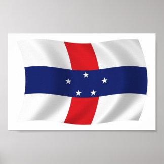Netherlands Antilles Flag Poster Print