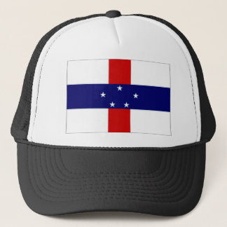 Netherlands Antilles Flag Trucker Hat
