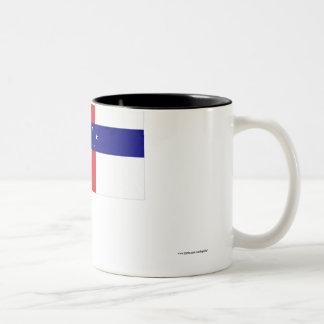 Netherlands Antilles Flag Two-Tone Coffee Mug