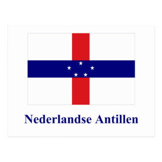 Netherlands Antilles Flag with Name in Dutch Postcard