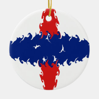 Netherlands Antilles Gnarly Flag Ceramic Ornament