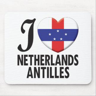 Netherlands Antilles Love Mouse Pad