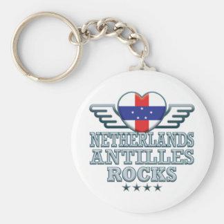 Netherlands Antilles Rocks v2 Keychains