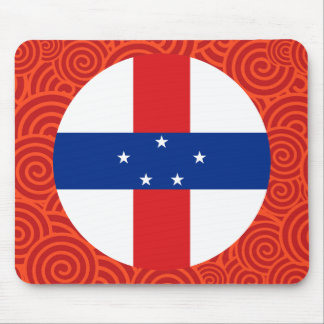 Netherlands Antilles round flag Mouse Pad