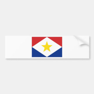 Netherlands Antilles Saba Flag Bumper Sticker